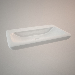 free 3d models - Classical sink 80cm 3d model LIFE!