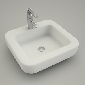 free 3d models - sink vanity square COCKTAIL 45cm