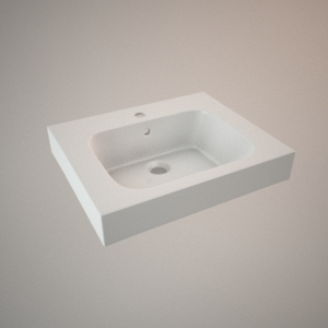 free 3d models - Vanity sink 50 cm 3d model MODO
