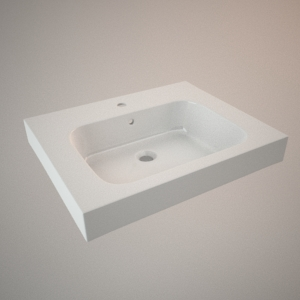 Vanity sink 60 cm 3d model MODO
