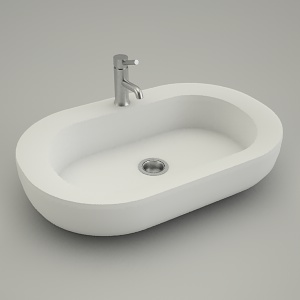 free 3d models - sink vanity oval COCKTAIL 65cm