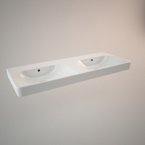 Countertop dobule sink 120 cm TRAFFIC