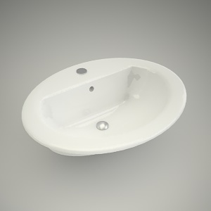 free 3d models - Washbasin nova top 56 cm