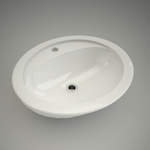 Washbasin oval scarlet