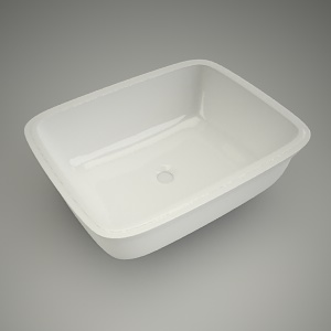 free 3d models - Undercounter sink style 52