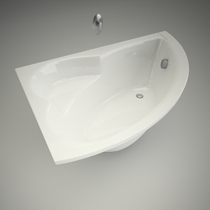 free 3d models - Bath neo plus 150x100cm L