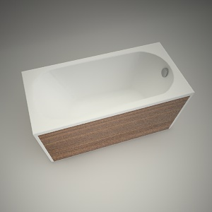 free 3d models - Bath opal plus 140x70cm