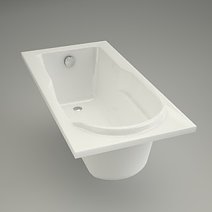 free 3d models - Rectangular bath SANTANA 140