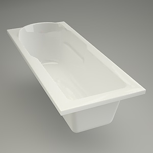 free 3d models - Rectangular bath SANTANA 170