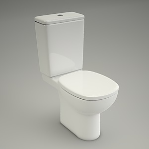 free 3d models - Compact wc FACILE