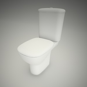 free 3d models - Wc compact style