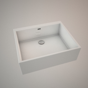 Ceramic sink 60 cm 3d model NOVA PRO