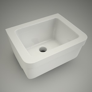 free 3d models - Ceramic sink swing 50cm
