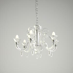 chandelier 3d model - MOONLIGHT ONDA
