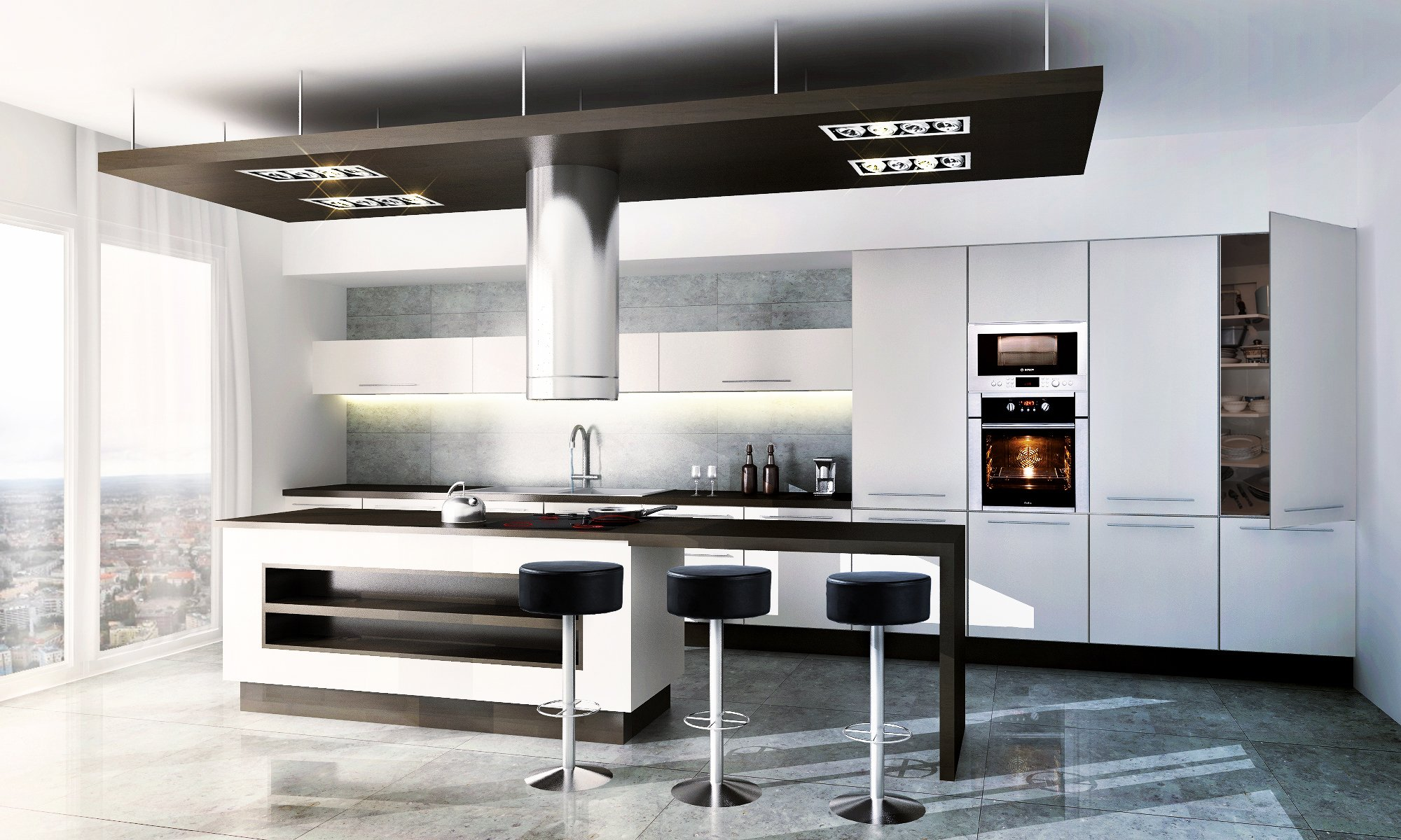 Modern Kitchen 3d Model modern kitchen - vizblog - free 3d models - free 3d base